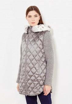 Пуховик, Bosideng, цвет: серый. Артикул: BO026EWVBC61. Женская одежда / Верхняя одежда / Пуховики и зимние куртки