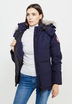 Пуховик, Canada Goose, цвет: синий. Артикул: CA997EWVBM57. Женская одежда / Верхняя одежда