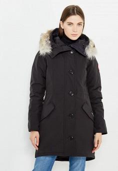 Пуховик, Canada Goose, цвет: черный. Артикул: CA997EWVBM68. Премиум / Одежда / Верхняя одежда / Пуховики и зимние куртки