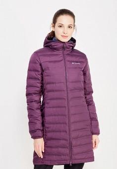 Пуховик, Columbia, цвет: фиолетовый. Артикул: CO214EWWIC01. Женская одежда / Верхняя одежда / Пуховики и зимние куртки