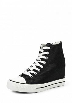 Кеды на танкетке, Fashion & Bella, цвет: черный. Артикул: FA034AWQTI65. Женская обувь / Кроссовки и кеды