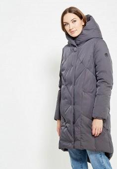 Пуховик, Finn Flare, цвет: серый. Артикул: FI001EWUZX89. Женская одежда / Верхняя одежда / Пуховики и зимние куртки / Длинные пуховики и куртки