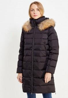 Пуховик, Finn Flare, цвет: черный. Артикул: FI001EWUZX96. Женская одежда / Верхняя одежда / Пуховики и зимние куртки