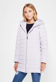 Пуховик, Finn Flare, цвет: фиолетовый. Артикул: FI001EWVAT28. Женская одежда / Верхняя одежда / Пуховики и зимние куртки