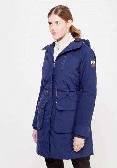 Пуховик, Helly Hansen, цвет: синий. Артикул: HE012EWFOJ90. Женская одежда / Верхняя одежда / Пуховики и зимние куртки / Длинные пуховики и куртки