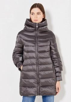 Пуховик, Hetrego, цвет: серый. Артикул: HE832EWVIV41. Женская одежда / Верхняя одежда / Пуховики и зимние куртки