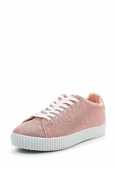 Кеды, Ideal Shoes, цвет: коралловый. Артикул: ID005AWTOV11. Женская обувь / Кроссовки и кеды
