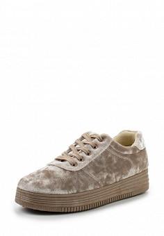 Кеды, Ideal Shoes, цвет: бежевый. Артикул: ID007AWWEH07. Женская обувь / Кроссовки и кеды