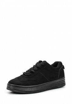 Кеды, Ideal Shoes, цвет: черный. Артикул: ID007AWWEH11. Женская обувь / Кроссовки и кеды