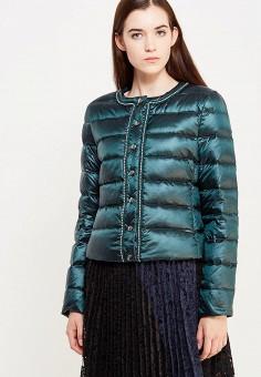 Пуховик, Liu Jo Jeans, цвет: зеленый. Артикул: LI003EWUDU44. Премиум / Одежда / Верхняя одежда / Пуховики и зимние куртки
