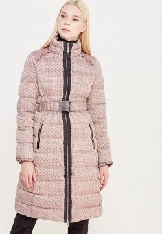 Пуховик, Liu Jo, цвет: розовый. Артикул: LI687EWUDM78. Женская одежда / Верхняя одежда / Пуховики и зимние куртки