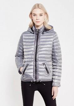 Пуховик, Mango, цвет: серый. Артикул: MA002EWXFC68. Женская одежда / Верхняя одежда / Пуховики и зимние куртки
