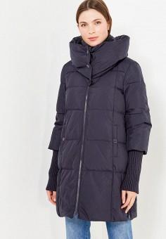 Пуховик, Max&Co, цвет: синий. Артикул: MA111EWUCH60. Премиум / Одежда / Верхняя одежда / Пуховики и зимние куртки