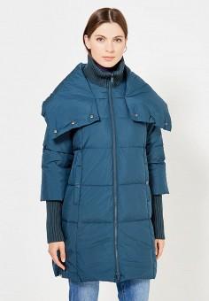 Пуховик, Max&Co, цвет: бирюзовый. Артикул: MA111EWUCH62. Премиум / Одежда / Верхняя одежда / Пуховики и зимние куртки