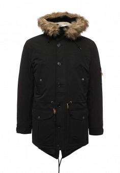 Парка, Modis, цвет: черный. Артикул: MO044EMWYW23. Мужская одежда / Верхняя одежда / Пуховики и зимние куртки