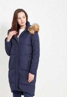 Пуховик, Modis, цвет: синий. Артикул: MO044EWWYW79. Женская одежда / Верхняя одежда / Пуховики и зимние куртки / Длинные пуховики и куртки