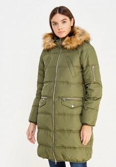 Пуховик, Modis, цвет: зеленый. Артикул: MO044EWXDT45. Женская одежда / Верхняя одежда