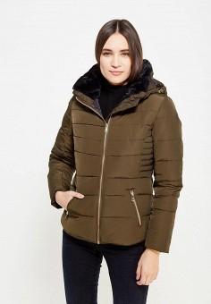Пуховик, Colin's, цвет: хаки. Артикул: MP002XW1ASEZ. Женская одежда / Верхняя одежда / Пуховики и зимние куртки