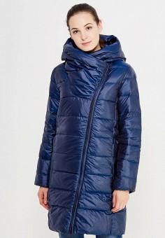 Пуховик, Nike, цвет: синий. Артикул: NI464EWUGT74. Женская одежда / Верхняя одежда / Пуховики и зимние куртки