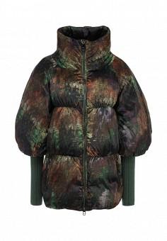 Пуховик, Odri, цвет: зеленый. Артикул: OD001EWGJW86. Женская одежда / Верхняя одежда / Пуховики и зимние куртки