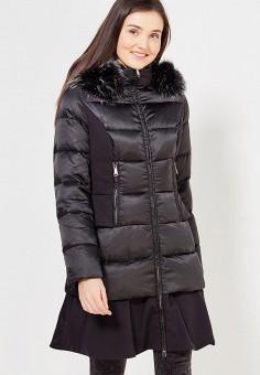 Пуховик, Odri, цвет: черный. Артикул: OD001EWYGM40. Женская одежда / Верхняя одежда / Пуховики и зимние куртки