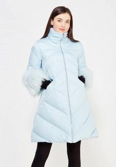 Пуховик, Odri, цвет: голубой. Артикул: OD001EWYGM76. Женская одежда / Верхняя одежда / Пуховики и зимние куртки