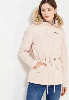 Парка, Only, цвет: розовый. Артикул: ON380EWUPQ74. Женская одежда / Верхняя одежда / Парки