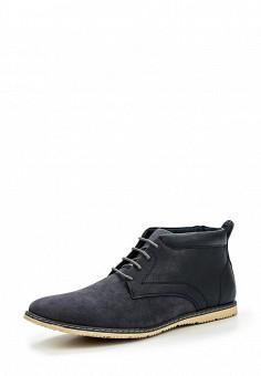 Ботинки, oodji, цвет: синий. Артикул: OO001AMKSG29. Мужская обувь / Ботинки и сапоги