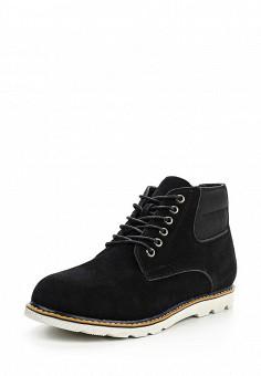 Ботинки, oodji, цвет: черный. Артикул: OO001AMPPA28. Мужская обувь / Ботинки и сапоги