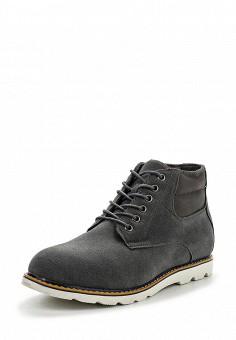 Ботинки, oodji, цвет: серый. Артикул: OO001AMPPA31. Мужская обувь / Ботинки и сапоги