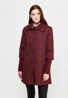 Куртка утепленная, oodji, цвет: бордовый. Артикул: OO001EWMRB40. Женская одежда / Верхняя одежда / Пуховики и зимние куртки