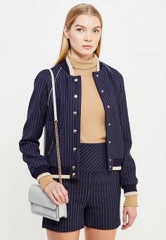 Куртка, Patrizia Pepe, цвет: синий. Артикул: PA748EWTUR43. Премиум / Одежда / Верхняя одежда
