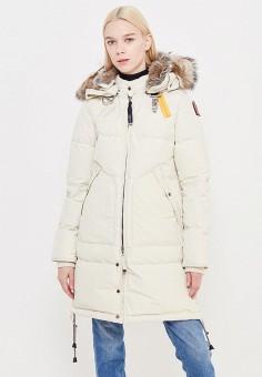 Пуховик, Parajumpers, цвет: бежевый. Артикул: PA997EWTCG40. Премиум / Одежда / Верхняя одежда / Пуховики и зимние куртки