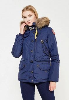 Пуховик, Parajumpers, цвет: синий. Артикул: PA997EWTCG50. Женская одежда / Верхняя одежда / Пуховики и зимние куртки