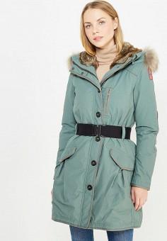 Пуховик, Parajumpers, цвет: зеленый. Артикул: PA997EWTCG58. Женская одежда / Верхняя одежда / Пуховики и зимние куртки