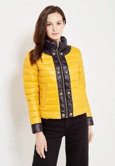 Пуховик, Phard, цвет: желтый. Артикул: PH007EWVVN47. Женская одежда / Верхняя одежда