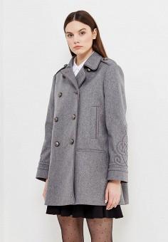 Пальто, Red Valentino, цвет: серый. Артикул: RE025EWTDE48. Премиум / Одежда / Верхняя одежда