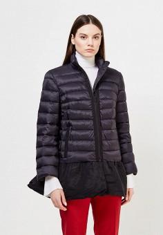 Пуховик, Red Valentino, цвет: черный. Артикул: RE025EWTDE55. Премиум / Одежда / Верхняя одежда