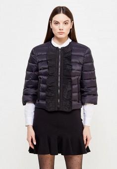 Пуховик, Red Valentino, цвет: черный. Артикул: RE025EWTDE56. Премиум / Одежда / Верхняя одежда / Пуховики и зимние куртки