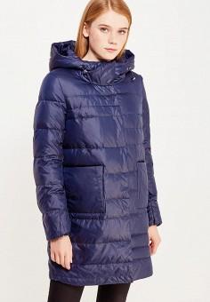 Пуховик, Savage, цвет: синий. Артикул: SA004EWVJW54. Женская одежда / Верхняя одежда / Пуховики и зимние куртки