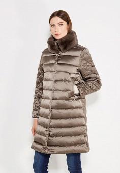 Пуховик, Savage, цвет: коричневый. Артикул: SA004EWVJW56. Женская одежда / Верхняя одежда / Пуховики и зимние куртки