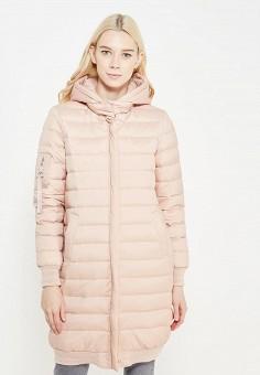 Пуховик, Savage, цвет: розовый. Артикул: SA004EWVJW72. Женская одежда / Верхняя одежда / Пуховики и зимние куртки