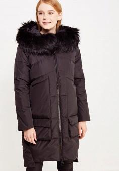 Пуховик, Savage, цвет: черный. Артикул: SA004EWVJX04. Женская одежда / Верхняя одежда / Пуховики и зимние куртки