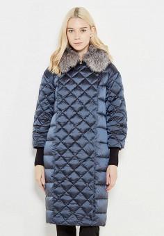 Пуховик, Savage, цвет: синий. Артикул: SA004EWWTJ31. Женская одежда / Верхняя одежда / Пуховики и зимние куртки