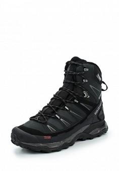 Ботинки трекинговые, Salomon, цвет: черный. Артикул: SA007AMUHK35. Мужская обувь / Ботинки и сапоги