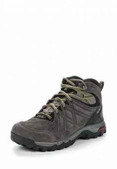 Ботинки трекинговые, Salomon, цвет: серый. Артикул: SA007AMUHK41. Мужская обувь / Ботинки и сапоги