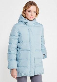 Пуховик, Sela, цвет: голубой. Артикул: SE001EWURO71. Женская одежда / Верхняя одежда / Пуховики и зимние куртки