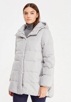 Пуховик, Sela, цвет: серый. Артикул: SE001EWURO72. Женская одежда / Верхняя одежда / Пуховики и зимние куртки