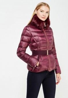 Пуховик, Ted Baker London, цвет: бордовый. Артикул: TE019EWVXH89. Премиум / Одежда / Верхняя одежда / Пуховики и зимние куртки
