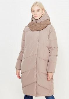 Пуховик, Tom Farr, цвет: бежевый. Артикул: TO005EWWUW08. Женская одежда / Верхняя одежда / Пуховики и зимние куртки / Длинные пуховики и куртки